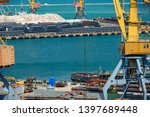 industrial port  infrastructure ... | Shutterstock . vector #1397689448