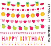 colorful birthday vector... | Shutterstock .eps vector #1397703215