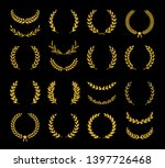 collection of different golden... | Shutterstock .eps vector #1397726468