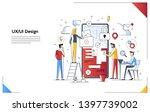modern flat line art concept of ... | Shutterstock .eps vector #1397739002