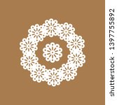 lace pattern. decorative lace... | Shutterstock .eps vector #1397755892