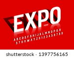 modern exhibition style font... | Shutterstock .eps vector #1397756165
