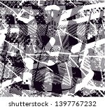 distressed background in black... | Shutterstock . vector #1397767232