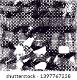 distressed background in black... | Shutterstock . vector #1397767238