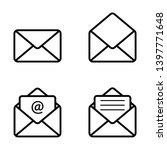 email message envelope icon... | Shutterstock .eps vector #1397771648