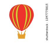 hot air balloon vector icon.... | Shutterstock .eps vector #1397775815