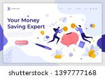 landing page template with... | Shutterstock .eps vector #1397777168