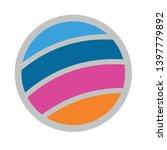 volleyball ball vector icon.... | Shutterstock .eps vector #1397779892
