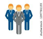 team leader vector icon. filled ... | Shutterstock .eps vector #1397781155