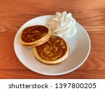 homemade stack of pancakes with ... | Shutterstock . vector #1397800205