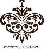 retro graphic ornament. floral... | Shutterstock .eps vector #1397819258