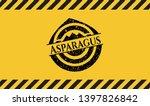 asparagus inside warning sign ...   Shutterstock .eps vector #1397826842