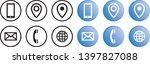vector brand identity contact... | Shutterstock .eps vector #1397827088