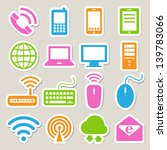 icon set of mobile devices  ... | Shutterstock .eps vector #139783066