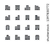 set of 16 office building icons. | Shutterstock .eps vector #1397830772