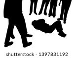 injured victim man lying down...   Shutterstock .eps vector #1397831192