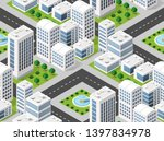 seamless repeating pattern city ... | Shutterstock .eps vector #1397834978