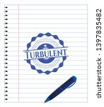 turbulent draw with pen effect. ... | Shutterstock .eps vector #1397835482