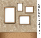 vector interior. frames on the... | Shutterstock .eps vector #139789906
