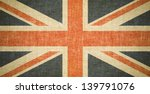 british flag on old canvas... | Shutterstock . vector #139791076