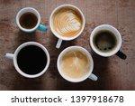 cup of americano  espresso ... | Shutterstock . vector #1397918678