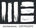 grunge paint lines.set of brush ... | Shutterstock .eps vector #1397923295