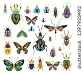 insects collection with... | Shutterstock .eps vector #1397933492