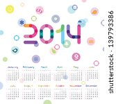 Calendar For 2014 With Symbols...