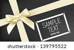 yellow bant on black background   Shutterstock .eps vector #139795522