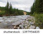 stony river bank. rapid rapid.... | Shutterstock . vector #1397956835