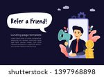 refer a friend. concept of...