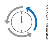 time  clock concept   Shutterstock .eps vector #139797172