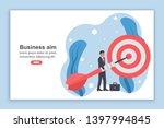 landing page achievement goal....   Shutterstock .eps vector #1397994845