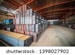 steel factory floor  stacked... | Shutterstock . vector #1398027902