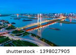 night view of the bridge and... | Shutterstock . vector #1398027905