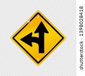 international left turn split... | Shutterstock .eps vector #1398028418