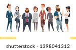 collection of charming young... | Shutterstock .eps vector #1398041312