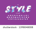vector of stylized modern font... | Shutterstock .eps vector #1398048008