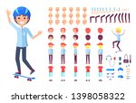 skater constructor collection... | Shutterstock . vector #1398058322