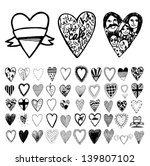 Hearts. Icons set. Vector.