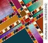 modern colorful geometric scarf ... | Shutterstock . vector #1398103442