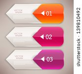colorful bookmarks and arrows... | Shutterstock .eps vector #139810492