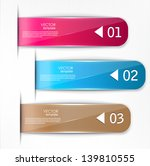 set of bookmarks  stickers ... | Shutterstock .eps vector #139810555