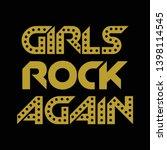 girls rock again illusrtation...   Shutterstock .eps vector #1398114545