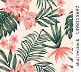 summer exotic green tropical...   Shutterstock .eps vector #1398123692