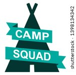 logo for camp squad. ribbon and ... | Shutterstock .eps vector #1398134342