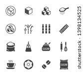 sugar cane  cube flat glyph... | Shutterstock .eps vector #1398134525