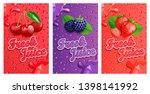 set of blackberry  cherry and... | Shutterstock .eps vector #1398141992