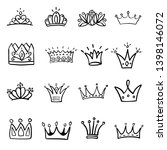 crown logo graffiti hand drawn... | Shutterstock .eps vector #1398146072
