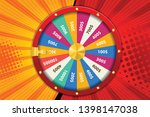Stock vector realistic d spinning fortune wheel lucky roulette vector illustration abstract concept graphic 1398147038